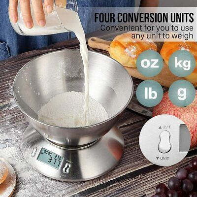 1g-5000g Digital LCD Kitchen Electronic Balance Scale Food Weight Bowl Scales • 13.99£