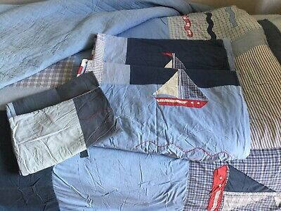 Laura Ashley Two Nautical Duvet Covers And Pillowcases • 8£