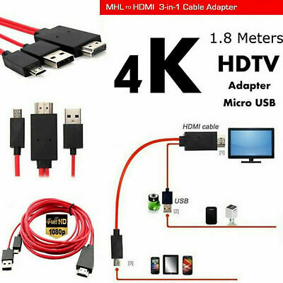 $ CDN12.48 • Buy MHL Micro USB To HDMI 1080P HD TV Cable Adapter For Samsung Android Cell Phone