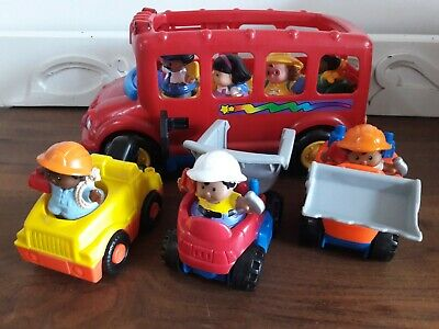 Fisher Price Little People Red  Bus With, 7 People & 3 Additional Vehicles   • 4£