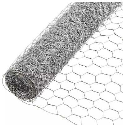 Galvanised Chicken Wire Mesh Net Netting Fence Rabbit Aviary Pet • 12£