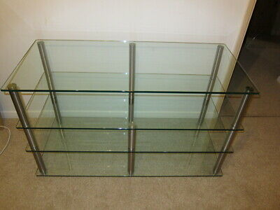 Futureglass 4 Shelf Glass AV And Hifi Rack • 220£