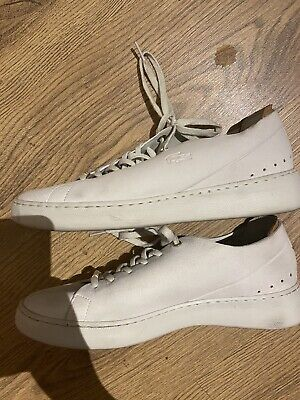 Lacoste White Suede Ladies Shoes Size Uk 8 • 20£