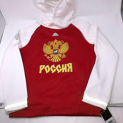 $29 • Buy Team Russia World Cup Of Hockey Adidas Premier Red Hoodie Sweatshirts Youth M
