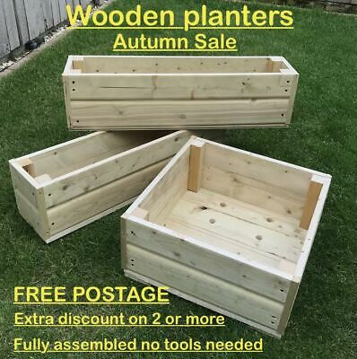 Long Wooden Decking Planter/Window Box/Trough/Garden/Herb/Flower Free Postage  • 25.99£