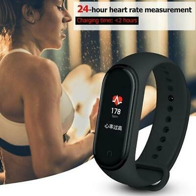 $ CDN7.88 • Buy M4 Smart Band Watch Bracelet Wristband Fitness Tracker Heart Gifts Pressure F8I2