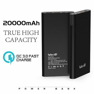 AU25.89 • Buy 20000mAh Wireless Power Bank Qi 18W Type-C USB Battery Fast  Charger Powerbank