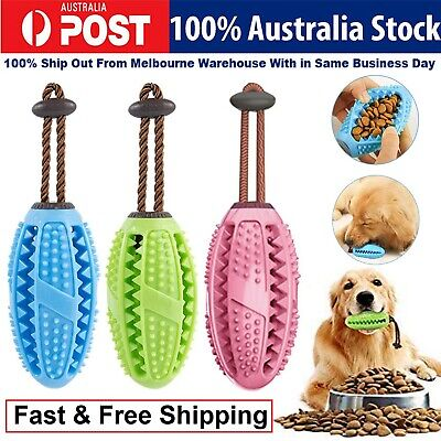 AU13.82 • Buy Dog Toothbrush Chew Stick Food Dispensing Treat Training Ball Puppy Dental Care