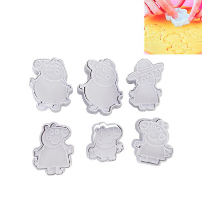 6pcs Peppa Pig Mold Cake Cookie Mold Cutter Fondant Baking Biscuit Tool Kit • 5.89£