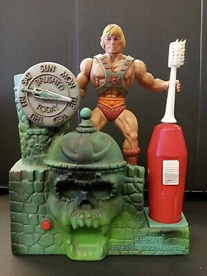 $94 • Buy  Masters Of The Universe He-Man Talking Toothbrush Holder 1984 Not Working