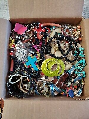 $ CDN53.40 • Buy Jewelry Lot Vintage Modern Wearable Resell 8 Lbs Craft Harvest