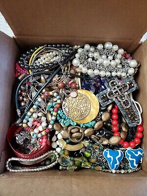 $ CDN46.72 • Buy Jewelry Lot Vintage Modern Wearable Resell 7 Lbs Craft Harvest