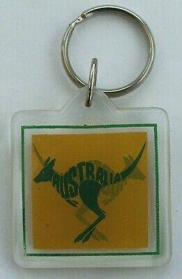 Plastic Souvenir Keyring From Australia Depicting A Kangaroo • 5.30£