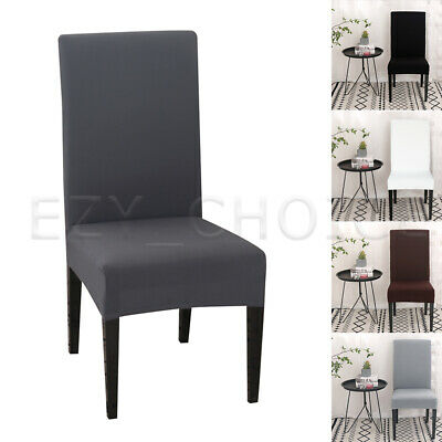 AU20.49 • Buy 1-8 PCS Dining Chair Covers Spandex Cover Stretch Washable Wedding Banquet Party