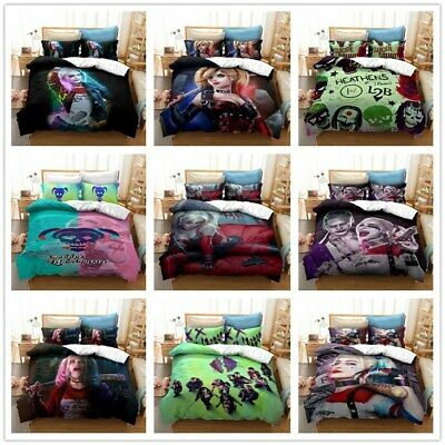 AU78.09 • Buy Harley Quinn Series 3D Duvet Quilt Cover Sets Pillowcase