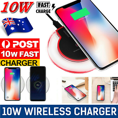 AU9.38 • Buy NEW QI Wireless Charger Charging Dock Cordless For Phone Samsung S9 S10 S20