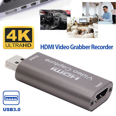 HDMI To USB 3.0 2.0 Video Capture Card 4K HD Recorder For Video Live Streaming • 9.99£