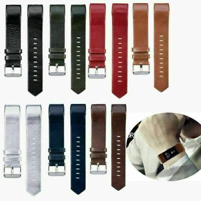 AU9.61 • Buy Real Leather Watch Band Wristband Straps Bracelet For Fitbit Charge 2 HR Tracker