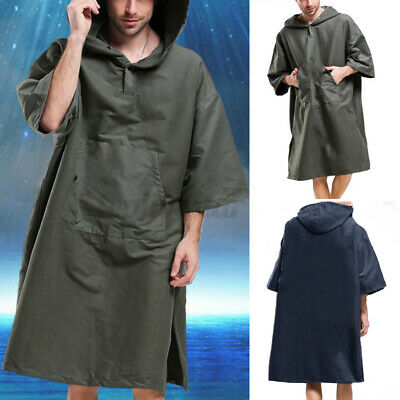 Surf Beach Bath Poncho For Men Women Wetsuit Changing Robe Bathing Towel Hoodies • 13.32£
