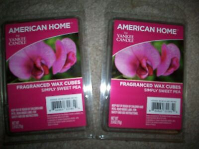 YANKEE CANDLE SIMPLY SWEET PEA Wax Melts American Home 2 Packs 12 Cubes Retired • 9.59£