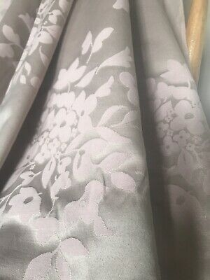 NEXT Floral Curtains Woven Jacquard Mauve Silky Textured Pair W66 XD54   • 1.20£