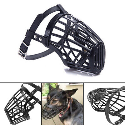 £3.39 • Buy Pet Dog Muzzle Mouth Mesh Mask Cover Basket No Barking Chewing Biting Black New