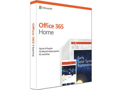 AU121.52 • Buy Microsoft Office 365 Home/Family - 6 Device 1 Year Subscription Medialess
