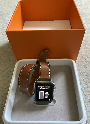 $ CDN1605.84 • Buy Apple Watch Hermès Series 3 38 MM Stainless Steel Case Fauve Barenia Double Tour