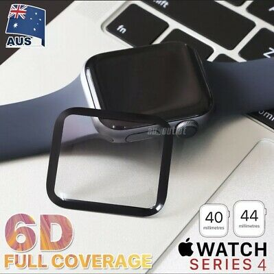 AU4.90 • Buy For Apple Watch IWatch 6/5/4/SE Tempered Glass FULL Screen Protector 40/44mm