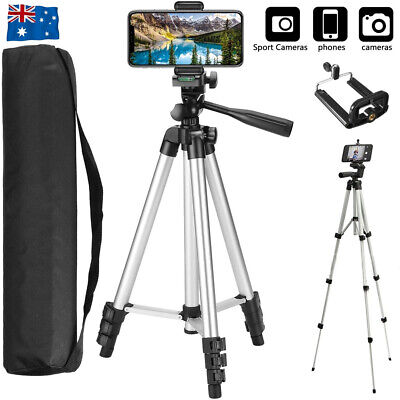 AU15.90 • Buy Universal Telescopic Camera Tripod Stand Holder Phone Mount For IPhone Samsung