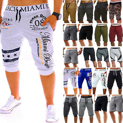 $17.89 • Buy Mens Cargo Sport Combat Shorts Pants Gym Workout Jogging Summer Casual Trousers