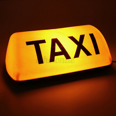 $15.99 • Buy Yellow 12V Taxi Cab Sign Roof Topper Car Magnetic Sign Lamp Light Waterproof US