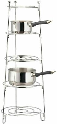 £22.99 • Buy HEAVY DUTY Premium Chrome Plated 5 Tier Pots And Pan Rack Stand Saucepan