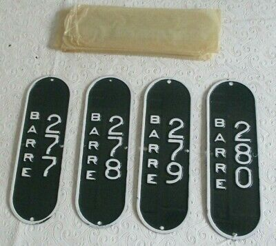 $100 • Buy 4 Barre Massachusetts Mass MA Bicycle License Plate Tags NOS