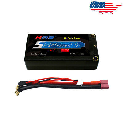 $ CDN65.90 • Buy HRB 7.6V 2S 5500mAh 120C LiPo Battery Hardcase For RC Drone Car Truck Buggy Losi