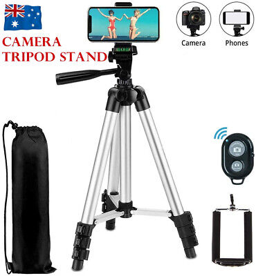 AU16.50 • Buy Professional Camera Tripod Stand Mount Phone Holder Remote For IPhone Samsung AU