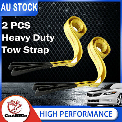 AU23.99 • Buy 2 Pcs 6' X 2  Super Duty Winch Sling Snatch 9000 LBS Rated Recovery Tow Strap AU