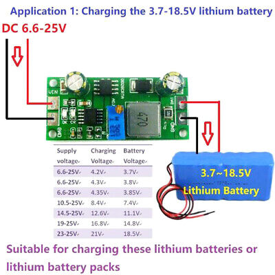 3.7V 3.8V 7.4V 11.1V 12V 14.8V 18.5V Lithium Li-on Lipo 18650 Battery Chargey1 • 5.64£