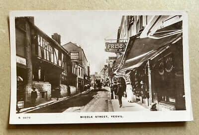 Middle Street Yeovil Somerset Real Photographic Postcard • 18£
