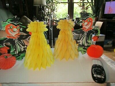 $ CDN13.20 • Buy 2 Vintage Beistle 1980's Halloween Honeycomb Scarecrows Fall Decorations