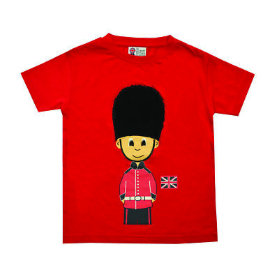British Royal Guard Soldier Child's T Shirt With Fluffy Hat 1-2 Years New Tags  • 15£