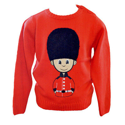 £18 • Buy British Royal Guard Soldier Child's Jumper With Fluffy Hat 5-6 Years New Tags