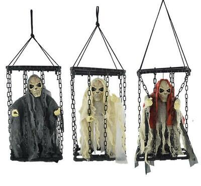 $ CDN30.04 • Buy 1PCS Sound Animated Ghost Skeleton Scary Props Halloween Decorations Outdoor