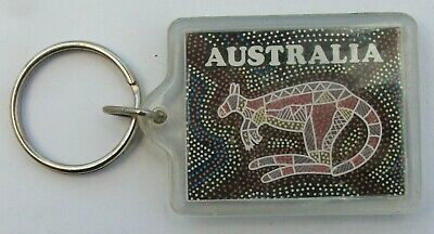 Keyring From Australia Showing A Kangaroo In Mosaic Form, Plastic • 5.30£