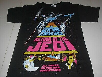 $18.99 • Buy Star Wars Empire Strikes Back Return Of The Jedi Mens Black T-shirt Size Small