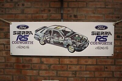 Ford Sierra Sapphire Rs Cosworth 4x4 Large Pvc  WORK SHOP BANNER Garage 1       • 14£