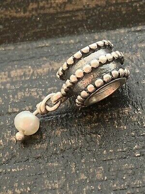 Genuine Pandora Bracelet Charm White Pearl Dangle - 790132WP    #8/13 • 14.99£