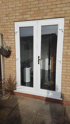 White Upvc French / Patio Doors 1600mm X 2100mm With Glass Any Size Available • 460£
