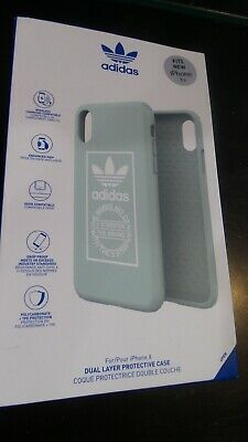 AU7.79 • Buy NEW Adidas LOGO DUAL LAYER PROTECTIVE Case For IPhone X MINT/White NEW IN BOX