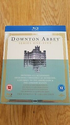 Downtown Abbey Series 1-5 17 Disc Blu- Ray Dvd Box Set.free Postage To The Uk • 10.79£